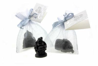 Huwelijksbedankje lachende Boeddha 3 cm
